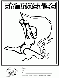 Gymnastics Coloring Sheets Gymnastics Coloring Pages