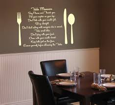 dining room wall decorating ideas: outstanding dining room wall decor in restaurant completed with dark brown wooden table with dining fixtures
