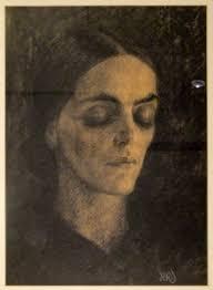 Monotypie - Reinhold rudolf Junghanns - Weiblicher Kopf (<b>Mary Wigman</b>) - image-work-junghanns_weiblicher_kopf_mary_wigman-17330-450-450