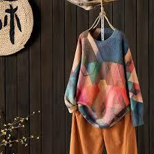 Geometrical Pattern Casual <b>Autumn Winter Sweater</b> – BUYKUD