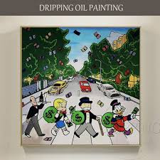 <b>Artist Hand painted High Quality</b> Modern Wall Art Monopoly Oil ...