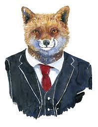 <b>Mr</b>. <b>Fox Watercolor</b> By Frits Ahlefeldt Painting by Frits Ahlefeldt-Laurvig