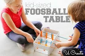 <b>DIY Mini</b> Foosball <b>Table</b>...perfect for kids! - U Create