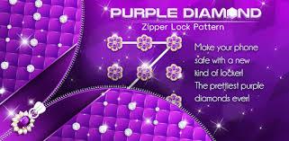 Purple Diamond <b>Flower</b> Zipper Lock <b>Pattern</b> - Apps on Google Play