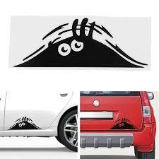 Car Stickers <b>Funny 3D Big</b> Eyes Car Decal Black Sticker Peeking ...