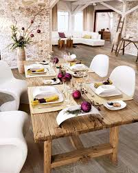 Holiday Dining Room Decorating Woven Solid Oak Dining Table And Chairs With Black Leather Seat