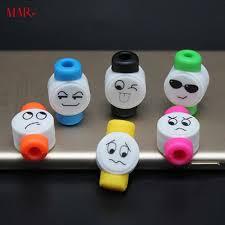<b>Emoji Cartoon</b> Data <b>Cable</b> Terminal Protection Silicone Soft Winder ...