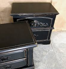painted black nightstandspetticoat junktion black painted bedroom furniture