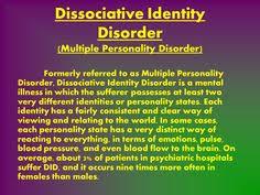 DID Dissociative Identity Disorder on Pinterest | Disorders ... via Relatably.com