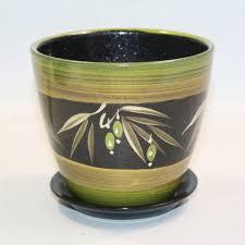 Кашпо <b>Бутон керамика оливки</b> 12см