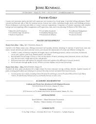 example pastry chef resume samplesample resume