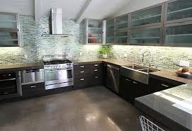 brown solid wood kitchen cabinet green ceramic tile pattern backsplash kitchen stainless stell range oven range brown solid wood shape home