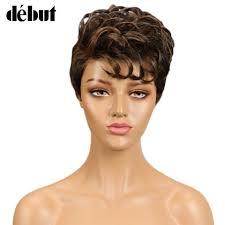 Detail Feedback Questions about <b>Debut Human Hair Wigs</b> Short ...
