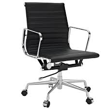 amazon com ribbed mid back office chair in black genuine leather view larger shabby chic cheap office chairs amazon