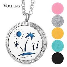 Perfume Locket Necklace <b>316L Stainless Steel</b> Magnetic Random ...
