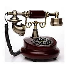 meetgre <b>Wooden Wall</b>-mounted Antique Cable Landline Telephone ...