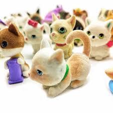 1pc Flocking <b>Artificial</b> Cat <b>Dog Animal Model</b> Figurine Craft ...
