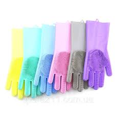 Многофункциональные <b>силиконовые перчатки</b> MAGIC BRUSH ...