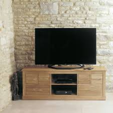 mobel solid oak widescreen television cabinet by baumhaus baumhaus mobel solid oak reversible