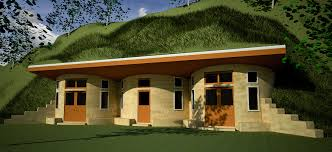 earth sheltered   Earthbag House PlansTriple Roundhouse Cluster  click to enlarge