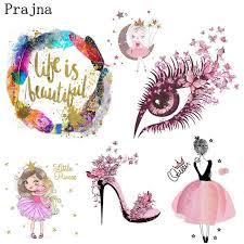 <b>Prajna Fashion Girl</b> Iron On Heat Transfers Cute Barbie Unicorn ...
