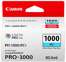 <b>Canon PFI-1000PC Photo Cyan</b> Ink Tank 80ml - for Canon PRO ...