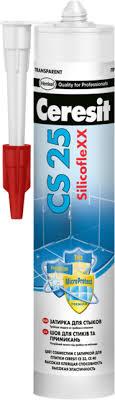 <b>Ceresit CS</b> 25 SilicofleXX <b>затирка</b>-<b>герметик силиконовая</b> для стыков