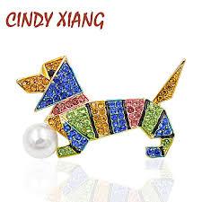 <b>CINDY XIANG</b> Multi color Spring Summer Style Rhinestone Dog ...