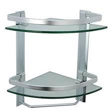 bathroom tempered glass shelf: amazoncom kes bathroom  tier corner glass shelf with wide rail and towel bar hanger aluminum frame and  mm extra thick tempered glass shower shelving