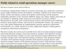 top retail operations manager cover letter samples  16 fields related to retail operations manager
