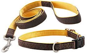 Buy <b>Brown Faux Leather</b> Dog <b>Collar</b> & Matching Leash Closeout ...