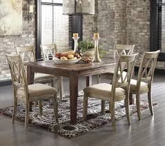 piece table set antique ashley signature design mestler  piece table set with antique white ch