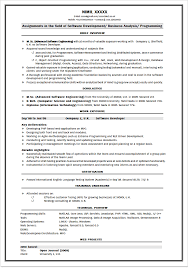 resume format for freshers btech