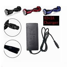 <b>1 pc best price</b> 42 V 2A electric Skatebaord adapter Scooter charger ...