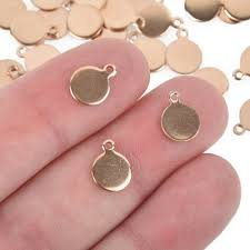 10 Rose <b>Gold Stainless Steel</b> Round Stamping <b>Blanks</b> 8mm (3/8 ...