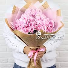 <b>Букет</b> из 3 розовых гортензий - Арт. <b>1101</b>