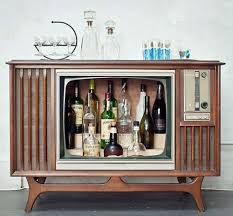 set cabinet full mini summer: vintage television consoles can be reclaimed and converted in liquor cabinet style home bars that give new meaning to entertainment centers portable bar