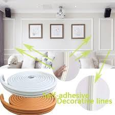 <b>Self</b>-<b>adhesive Decorative Wall</b> Molding Lines Background Lines TV ...
