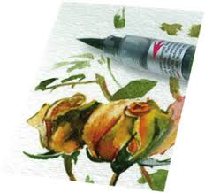 <b>Кисть с краской PENTEL</b> Color Brush :: Компания «Секретарь»