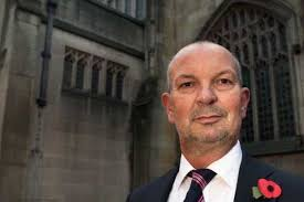 'SICKENED': Cathedral administrator Peter Mellor in front of the wall where ... - C_71_article_1464497_image_list_image_list_item_0_image
