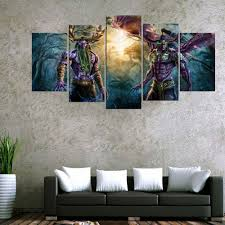 5 Panel World Of <b>Warcraft</b> Game Poster Wall <b>Art</b> Picture Home ...