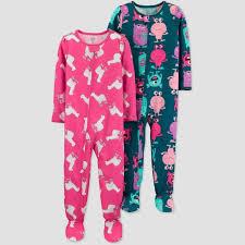 Toddler Girls' Monster <b>100</b>% <b>Cotton One Piece</b> Pajama - Just One ...
