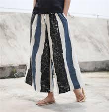 Women Summer Wide Leg Pants Cotton Linen Casual Ladies ...