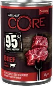 Консервы для взрослых собак <b>WELLNESS CORE</b> 95 из говядины ...