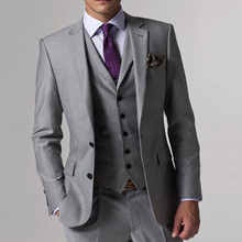 Gray Wedding Tuxedo <b>Custom Made</b> Grey Suits Gray Groom Suit ...