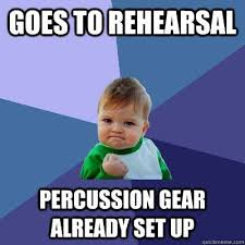 Memes For Obsessed Percussionists via Relatably.com