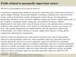 top  paramedic supervisor interview questions and answers