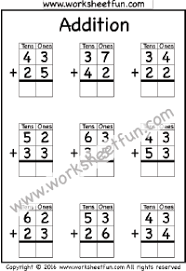 Addition – No Regrouping / FREE Printable Worksheets – Worksheetfun2 Digit Addition – No Regrouping – 4 Worksheets