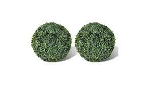 "<b>Boxwood Ball Artificial Leaf</b> Topiary Ball 10.6"" 2 pcs | Groupon"