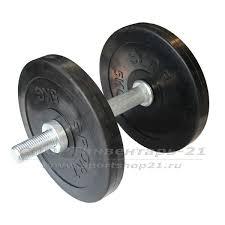<b>Гантель</b> обрезиненная разборная 12 кг (сборка ЭКОНОМ)